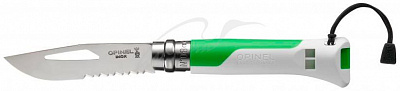 Нож Opinel №8 Outdoor Fluo Green - фото
